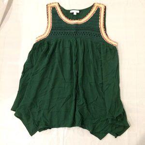 Lauren Conrad Green Sleeveless Tank Top Shirt XL
